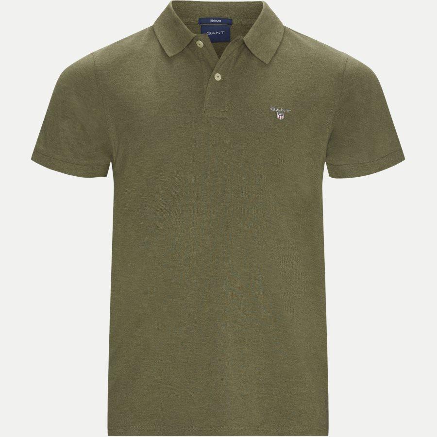 2201 S19 - The original Pique SS Rugger Polo T-shirt - T-shirts - Regular - KHAKI MELANGE - 1